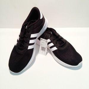 Adidas Women's Lite Racer Sneaker, Black White, 9